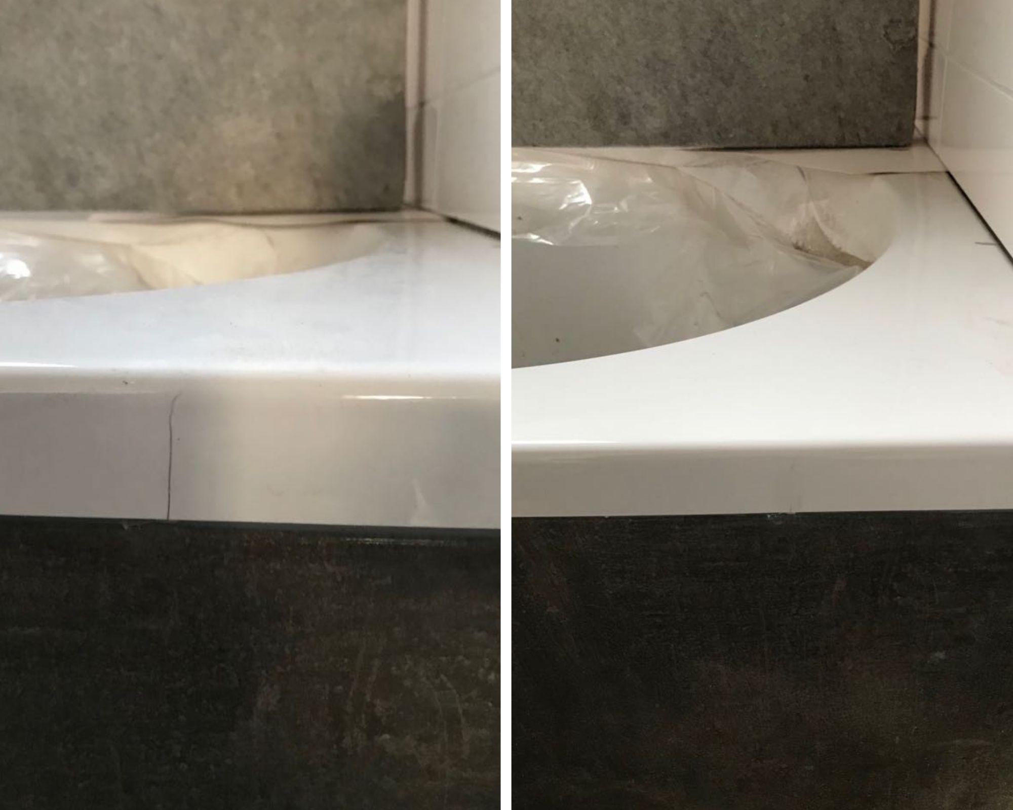 Krassen verwijderen uit bad